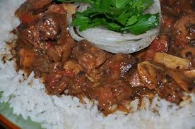 Chicken Gizzard Sauce and Basmati Rice