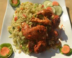 Chicken wings Sauce and Basmati Rice