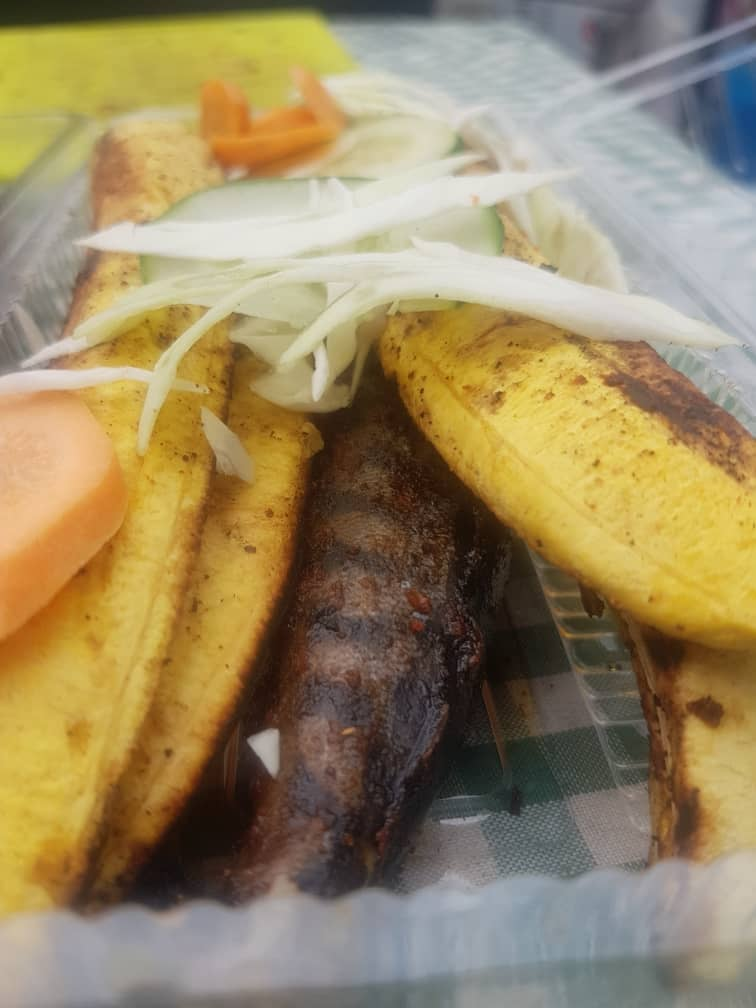 Titus Fish with Grilled Plantain