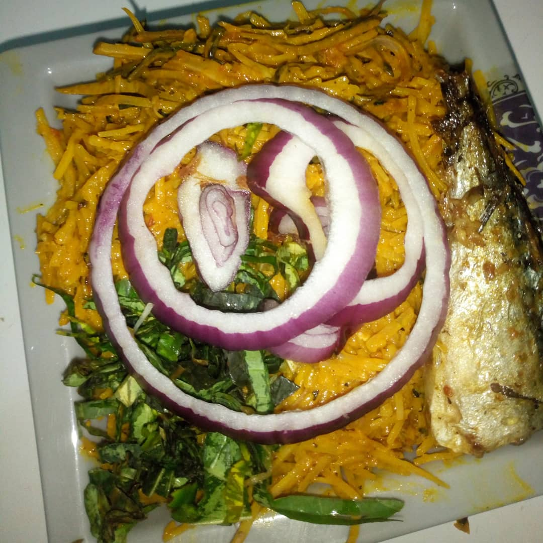 Abacha with Ice fish