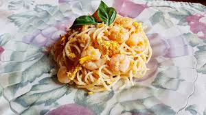 Noodles, Egg and Shrimps