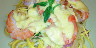 Prawn in Hollandaise sauce