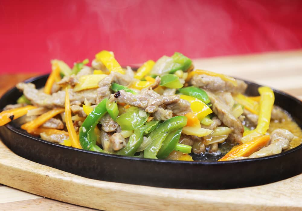 Shredded Beef With Green Pepper  and Spring Onions