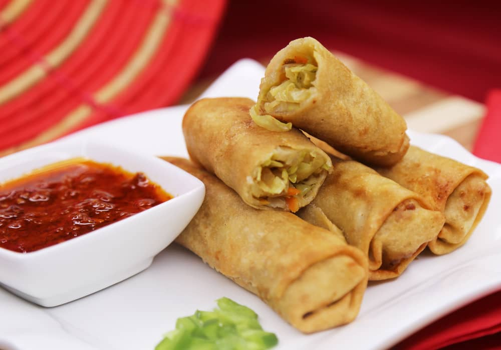 Spring Rolls and Chilli Pepper