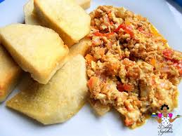 Golden Yam and Egg Sauce