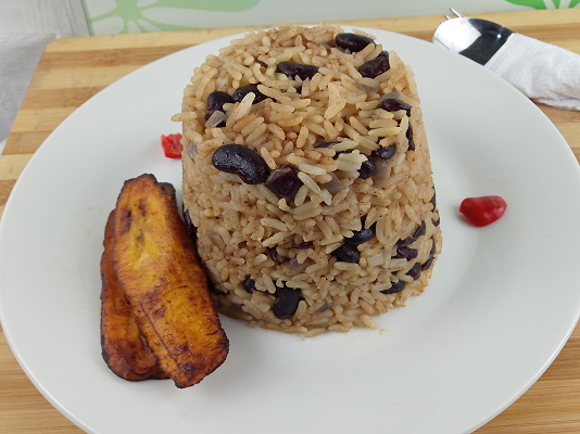 Jamaican brown rice and peas