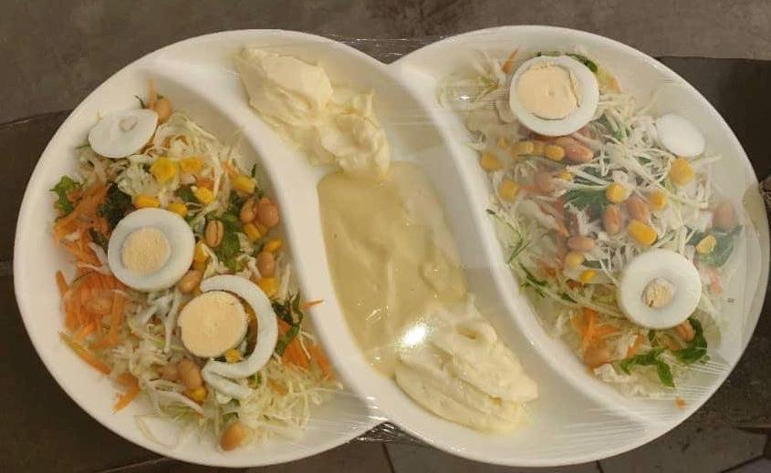 Vegetable Salad with sour cream
